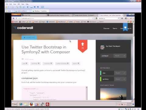 Symfony 2.3 Beginners Tutorial - Part 4 - Twitter Bootstrap & Symfony 2