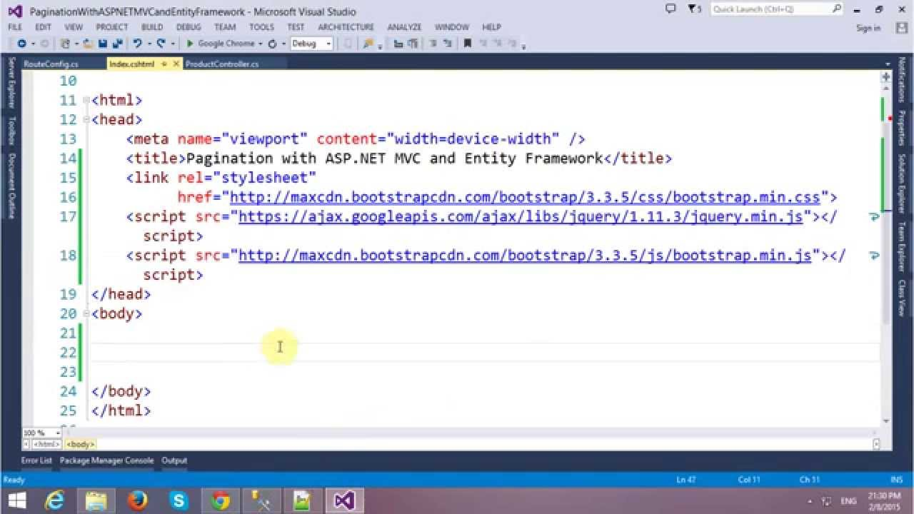 Pagination With ASP NET MVC and Entity Framework, BootStrap