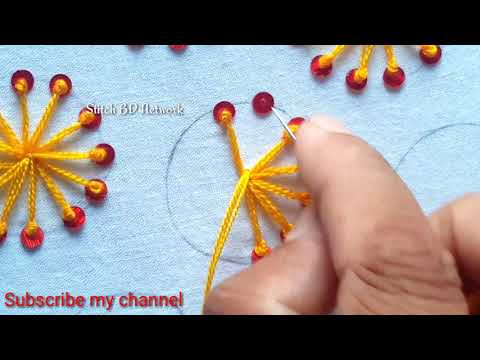 Hand Embroidery /All Over Design For Kurti/Kamiz By Stitch BD Network
