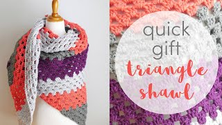 How to Crochet the Quick Gift Triangle Shawl (12 Weeks of Gifting Series)