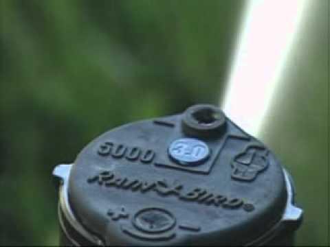 Adjusting the radius on Rain Bird 3500, 5000, 32SA, 42SA and 52SA Rotors