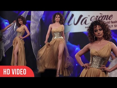 Hot Kangana Ranaut Ramp Walk in Thigh-High-Slit Dress | Viralbollywood Mp3