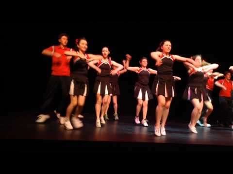 Avy Crowchild performs with Arts Umbrella's Musical Theatre Troupe