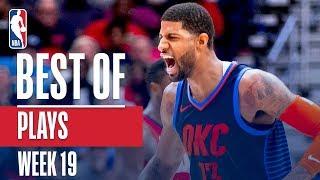 NBA's Best Plays | Week 19 Video