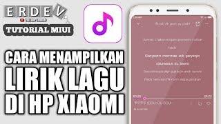 Cara Menambahkan dan Menampilkan Lirik Lagu di Aplikasi Musik HP Xiaomi (MIUI)