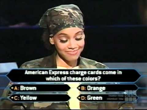 "Lisa ""Left Eye"" Lopes on Who Wants to be a Millionaire Top of the Charts edition (music edition)"