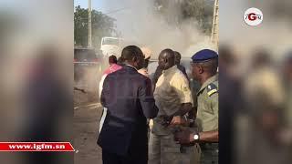 Sa voiture prend feu, Macky Sall évacué par sa garde rapprochée