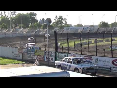 BROCK HESS HEAT RACE DAKOTA STATE FAIR SPEEDWAY JULY 2,2016