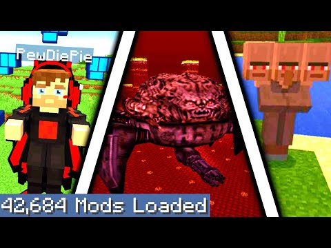 Minecraft But I Downloaded Every Single Mod Again 4...