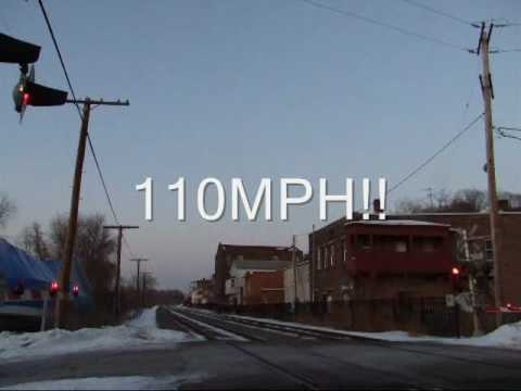 Thumbnail: 110MPH AMTRAK CLOSE UP