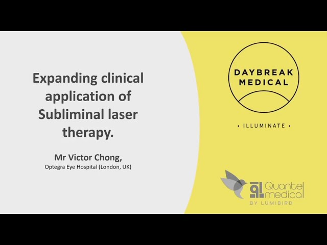 Expanding clinical application of SubLiminal laser therapy