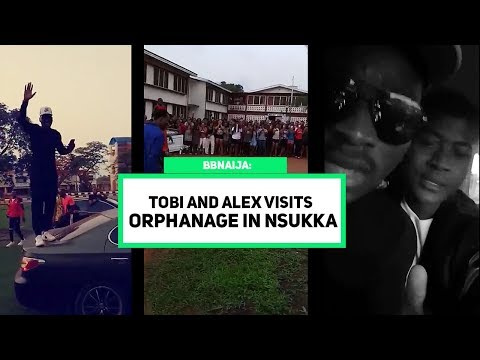 BBNAIJA Tobi & Alex Visits The Orphanage In Nsukka | University Students Came Out In Thousands