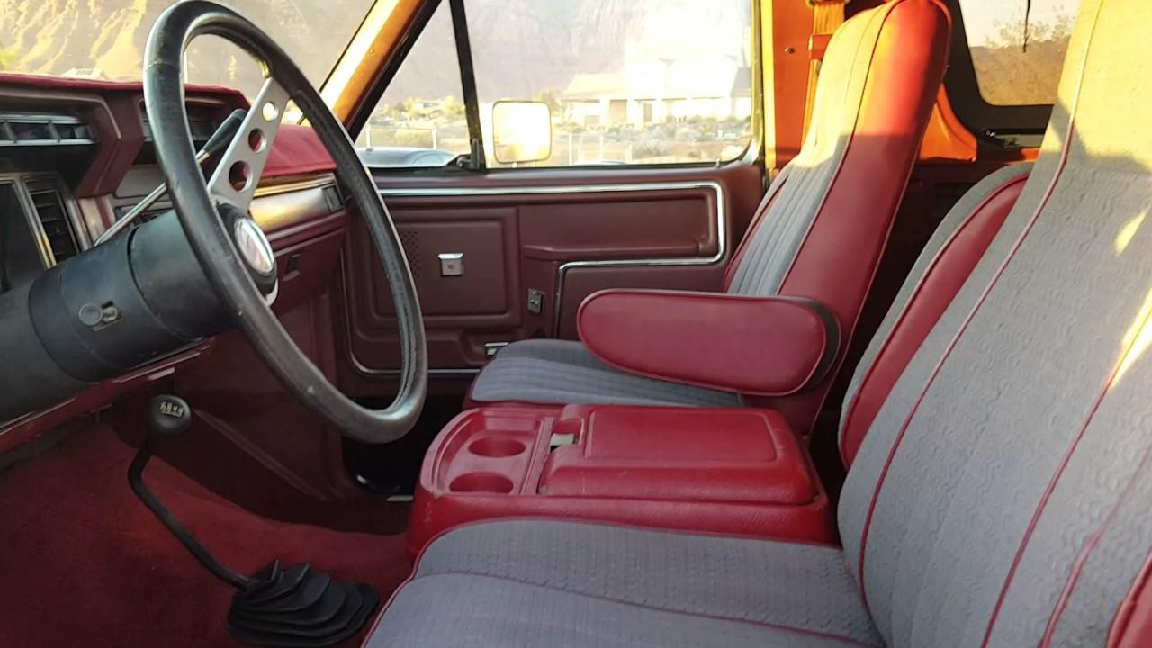 1984 Bronco Interior - YouTube