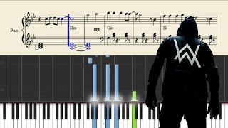 Alan Walker - Alone - Piano Tutorial + Chords