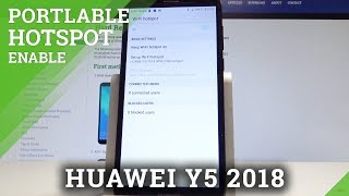 How to Turn On & Use Portable Hotspot on HUAWEI Y5 2018 - Share Wi-Fi