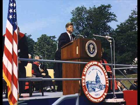 "PRESIDENT KENNEDY'S ""PEACE"" SPEECH AT AMERICAN UNIVERSITY (JUNE 10, 1963)"
