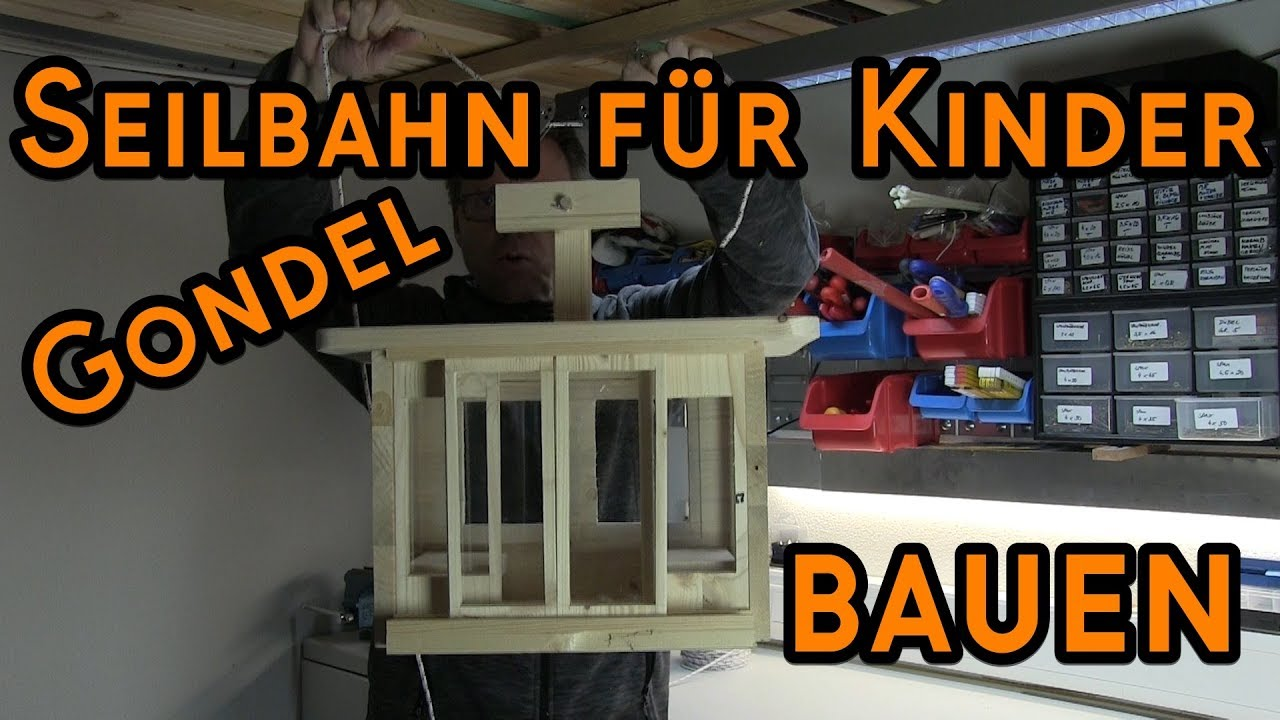basteln mit holz gondel seilbahn selber bauen f r kinder youtube. Black Bedroom Furniture Sets. Home Design Ideas
