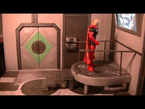 """Figures In Action"" #118: Sci-Fi Superman/Batman Diorama"
