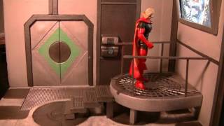 """Figures In Action"" #118: Sci-Fi Superman/Batman Diorama"