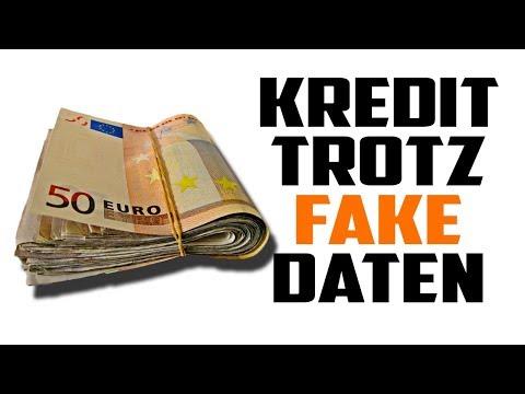 75.000€ Kredit trotz falscher Daten bekommen