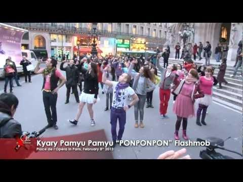 Kyary Pamyu Pamyu ''PONPONPON'' Flashmob in Paris at Place de l'Opéra, February 8th 2013