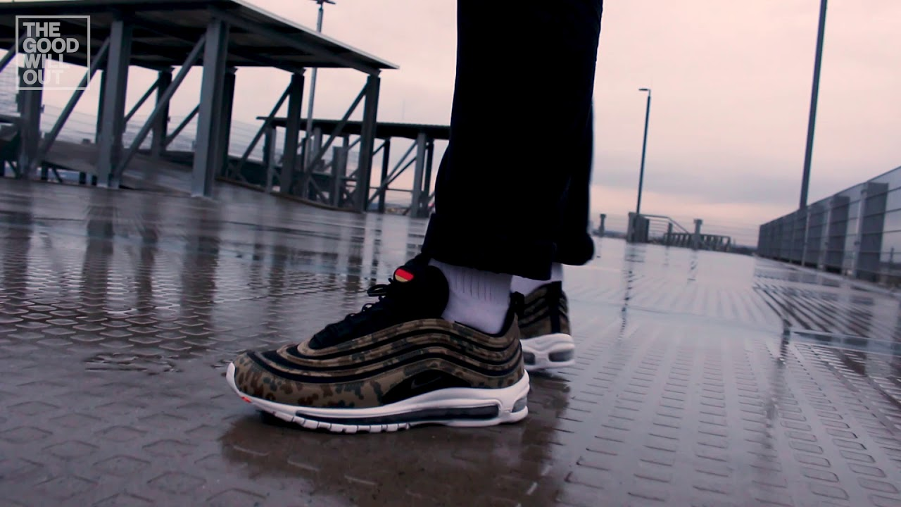 acbb4c7782 Nike Air Max 97 Premium QS 'Country Camo Pack' Germany at The Good Will Out  (on feet)