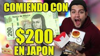 Hoy toca hacer el reto de comer con SOOOLO $200 en Japon, sabemos q...