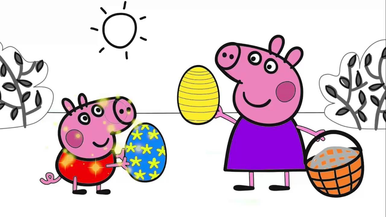 Peppa Pig çizgi Film Karakter Boyama 2 Minik Eller Boyama Kitabı