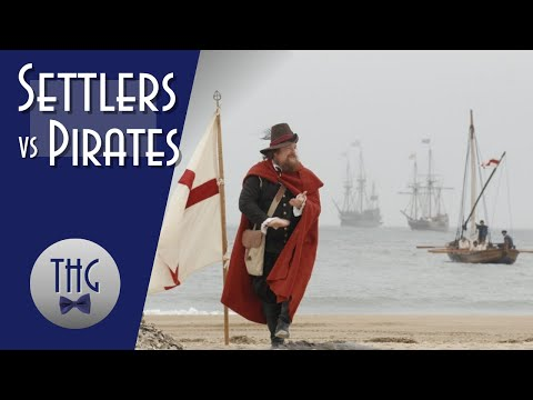 Jamestown Settlers and Spanish Pirates