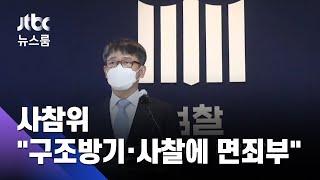 """""""검찰, 구조방기·사찰에 면죄부""""…사참위, 수사결과 비판 / JTBC 뉴스룸"""