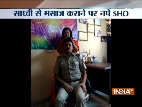 Delhi SHO suspended for taking massage from Sadhvi