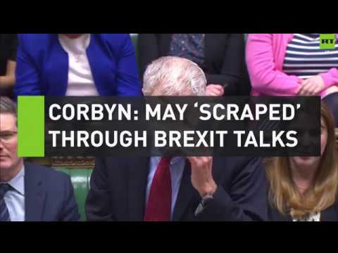 Corbyn slams May for 'scraping through Brexit negotiations'