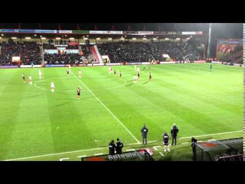 View from the box at AFC Bournemouth Goldsands Stadium Dean Court vs Fulham 26 Dec 2014