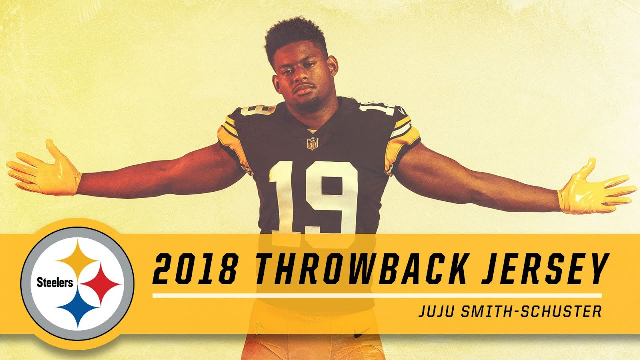 size 40 8ed30 d7c1e JuJu Smith-Schuster Shows Off 2018 Throwback Uniform | Pittsburgh Steelers