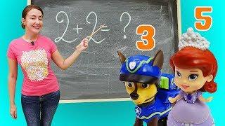 Мультики для детей: Веселая школа— Игрушки измультфильмов иВеселые уроки для малышей