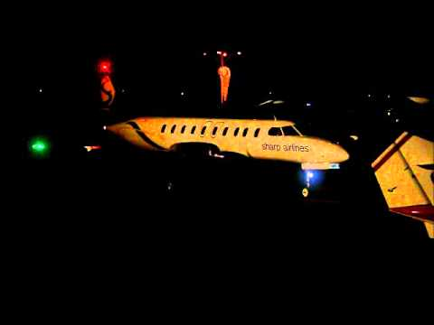 Sharp Airlines Metro III VH-SEZ night start up/taxi at Hamilton, Victoria (YHML)