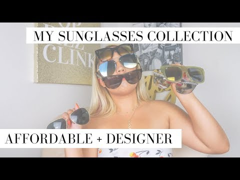 TRY-ON | My Entire Sunglasses Collection! Affordable + Designer Styles for an Oval Face Shape thumbnail