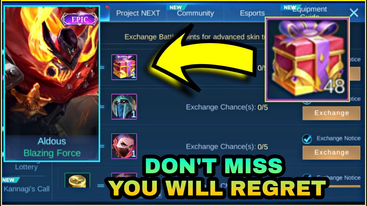 WATCH THIS BEFORE BUYING SKIN TRIAL BOX FOR FREE ALDOUS SKIN   MLBB