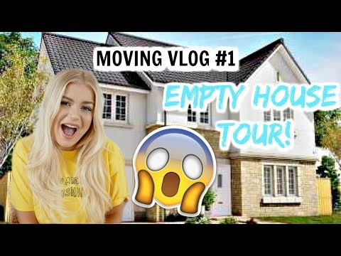 MOVING VLOG 1: EMPTY HOUSE TOUR🏡😱😍 | Lucy Flight