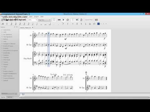 Adeste Fideles sheet music for flute, trumpet and piano