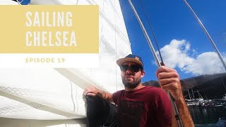 Episode 19 - Sailing Chelsea - We explore La Palma and have a go at mending a tear in our main sail
