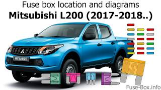 Fuse box location and diagrams: Mitsubishi L200 (2017-2018..) - YouTubeYouTube