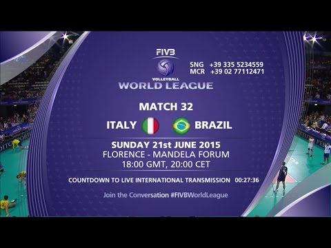 Live: Italy vs Brazil - Game 2 - FIVB Volleyball World League 2015