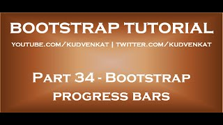 Bootstrap progress bars thumbnail