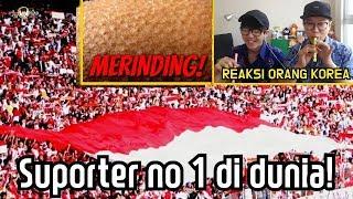 ORANG KOREA MERINDING MENONTON SUPORTER BOLA INDONESIA