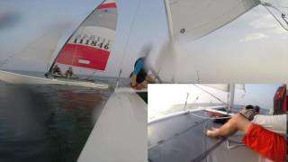 Dart 18, Hobie Cat 16 Catamarans Sailing Vlog 002-02/09/2016