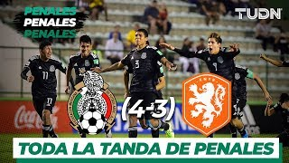 Toda la tanda de penales del México Vs Holanda | Mundial Brasil Sub17 Semifinal | TUDN