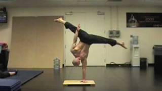 One-arm Handstand Practice - December 2009