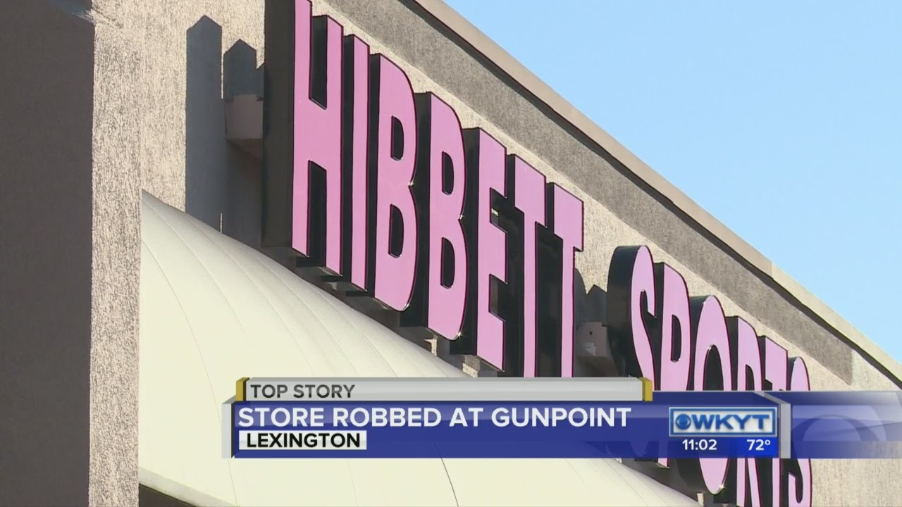 79e1388875f4f4 Lexington police investigating robbery at Hibbett Sports - YouTube