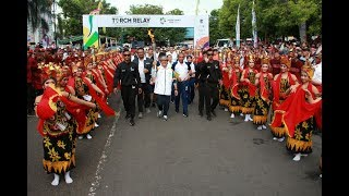 Download Video Kemeriahan Pawai Obor Asian Games 2018 di Banyuwangi,Polda Jatim Turut Sambut Torch Relay MP3 3GP MP4